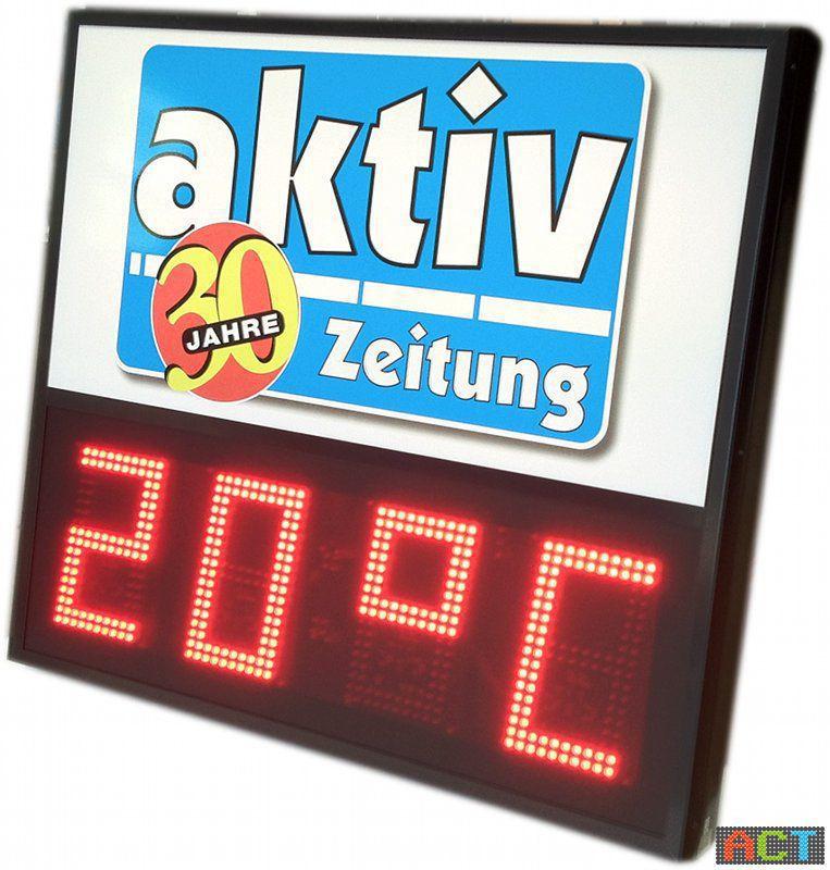 led-zeit-temperatur-anzeige