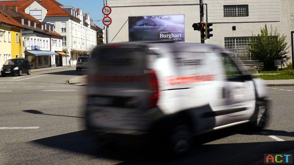 Werbeplattform-Videowand