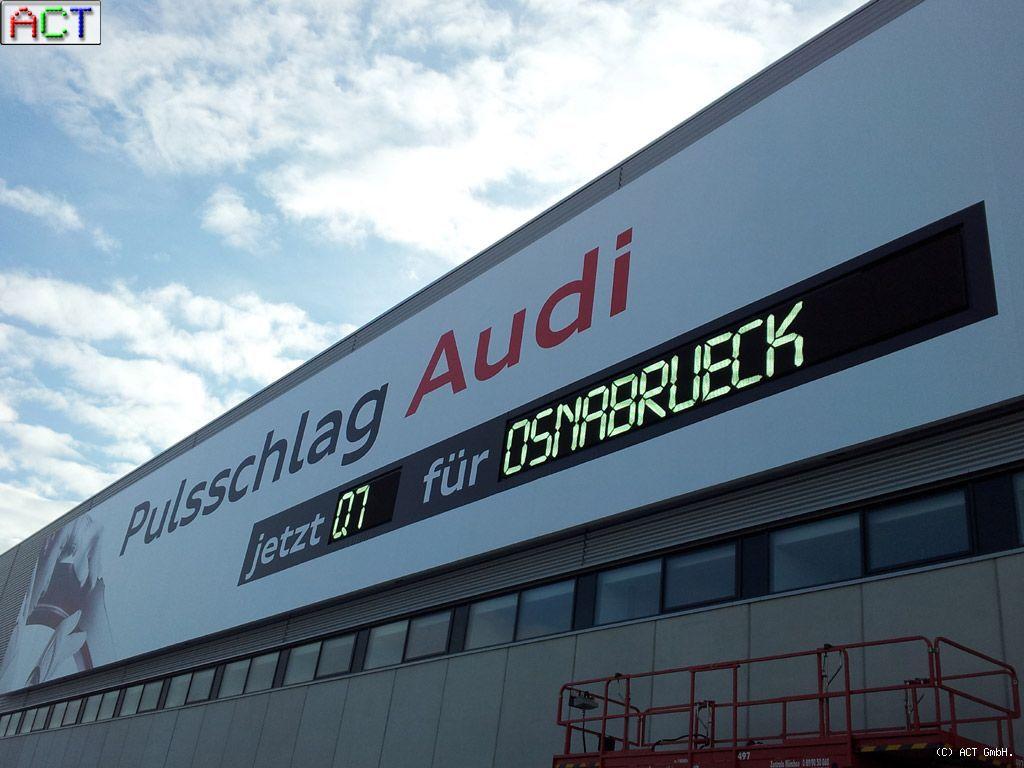 Act Gmbh Led Displays Led Videowall Audi Ag Werk Ingolstadt