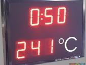 Temperaturanstieg-LED-Anzeige