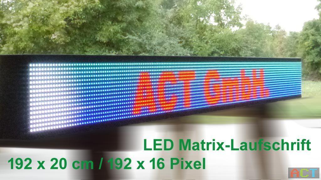 LED-Matrix-Laufschriften
