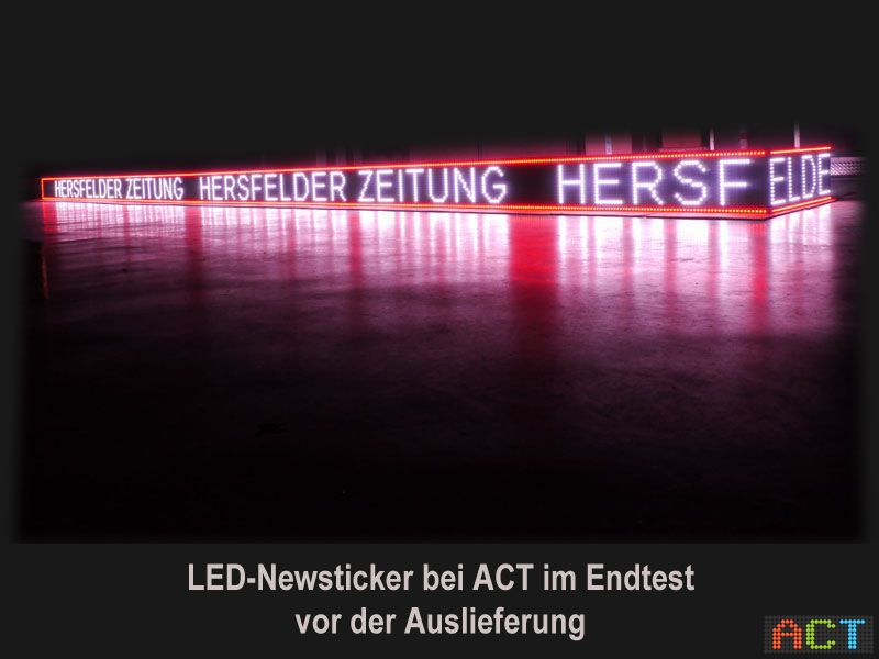 ACT GmbH LED Displays LED Newsticker Hersfelder Zeitung