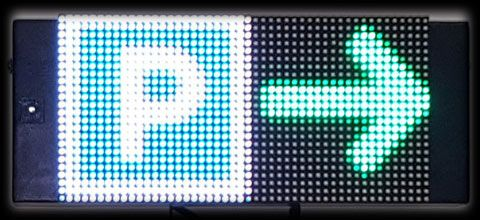 LED-Parkhausanzeigen