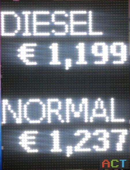 Multifunktionale Preisanzeige
