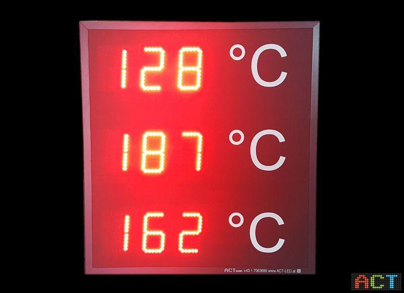 Digitale Temperaturanzeige