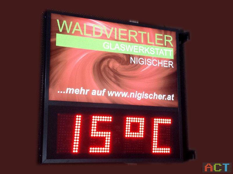 Act gmbh led displays uhrzeit temperatur anzeigen nigischer