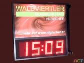 Uhrzeit-Temperatur-Anzeigen