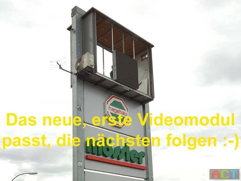 Videowand-Werbung