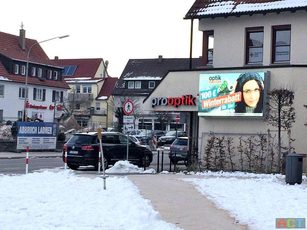 Led-Reklamewand