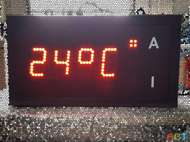 LED Innen-Aussentemperaturanzeige