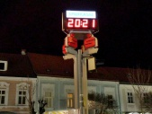 Zeit-Temperatur-LED-Ziffernanzeige