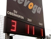 Sportplatz-Anzeigetafel