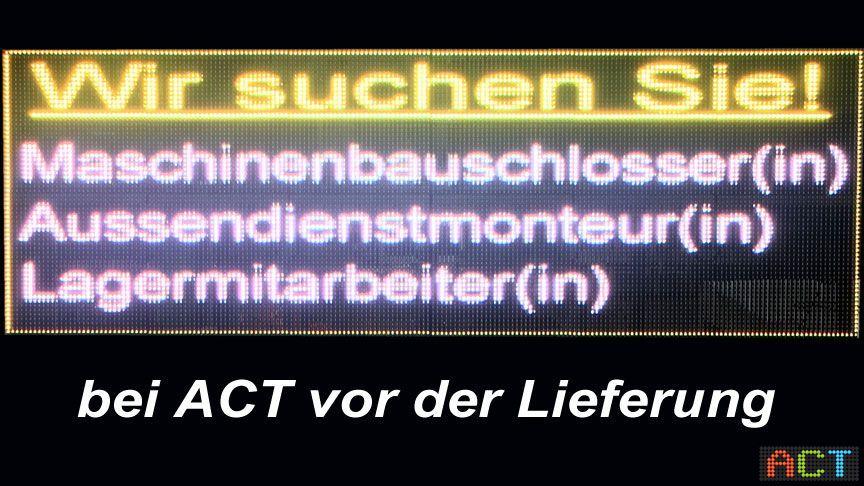 LED-Matrix-Werbedisplay
