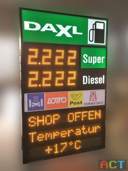 Tankpreisanzeige