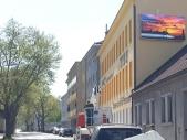 Videowand-Fassadenwerbung