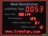 Anzeigetafel-Unfallstatistik