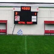 Fussball-Anzeigetafel