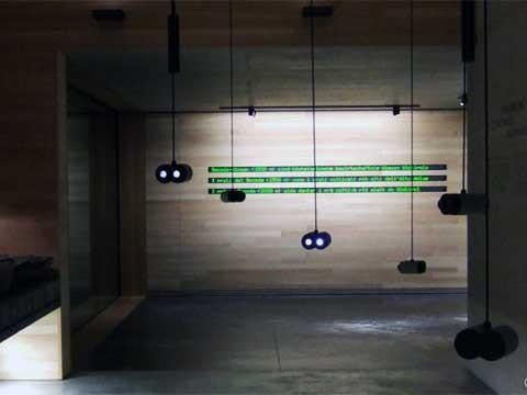 Dreizeiliges LED-Display