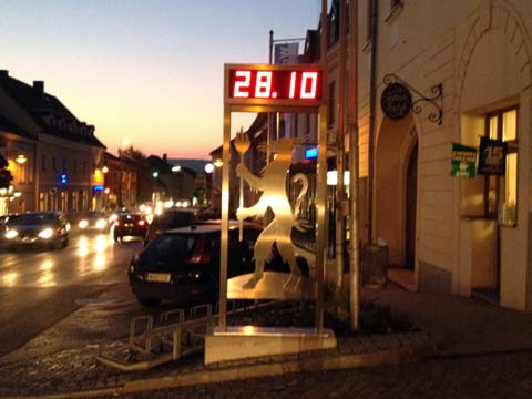 LED-Zeitanzeige