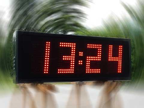 LED-Uhrzeitanzeige