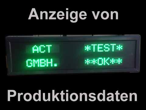 Led-Industrie-Textdisplay