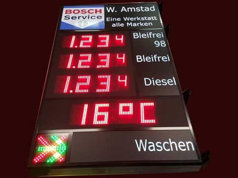 Benzinpreis-Anzeigetafel