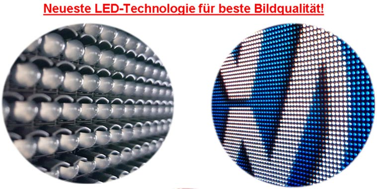 Led-Videowand Detail mit Super3-Leds