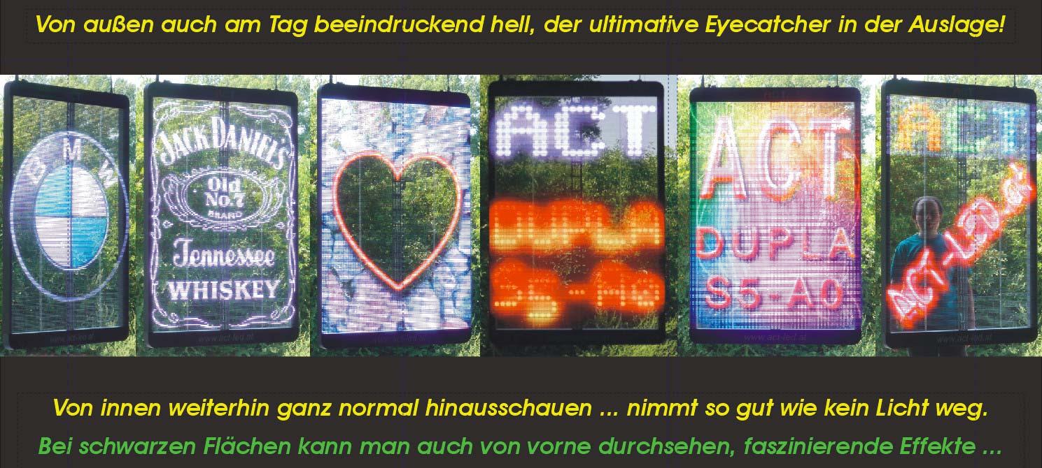 LED Schaufenster-Werbedisplays