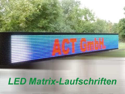 Led Matrix-Laufschriften