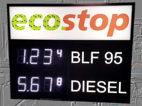 Tankstellen-Preisanzeigetafel