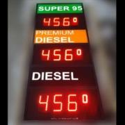 Tankpreis-Schild