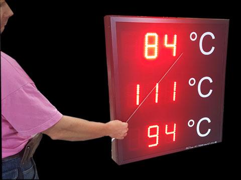 Digitale-Temperaturanzeige