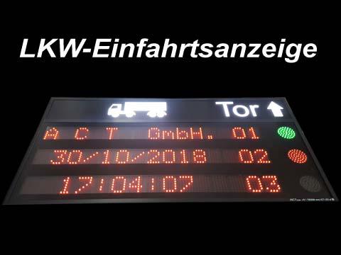 LKW-Einfahrtsanzeige